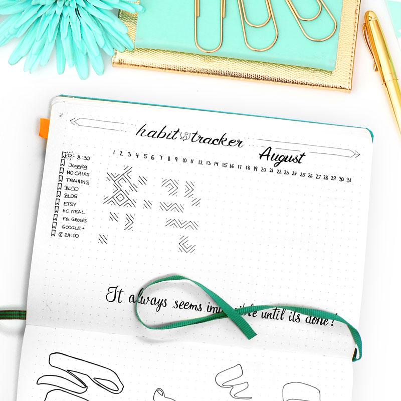 Bullet Journal Habit Tracker - Wundertastisch
