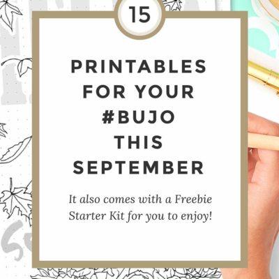 Free Printable September Bullet Journal SetUp