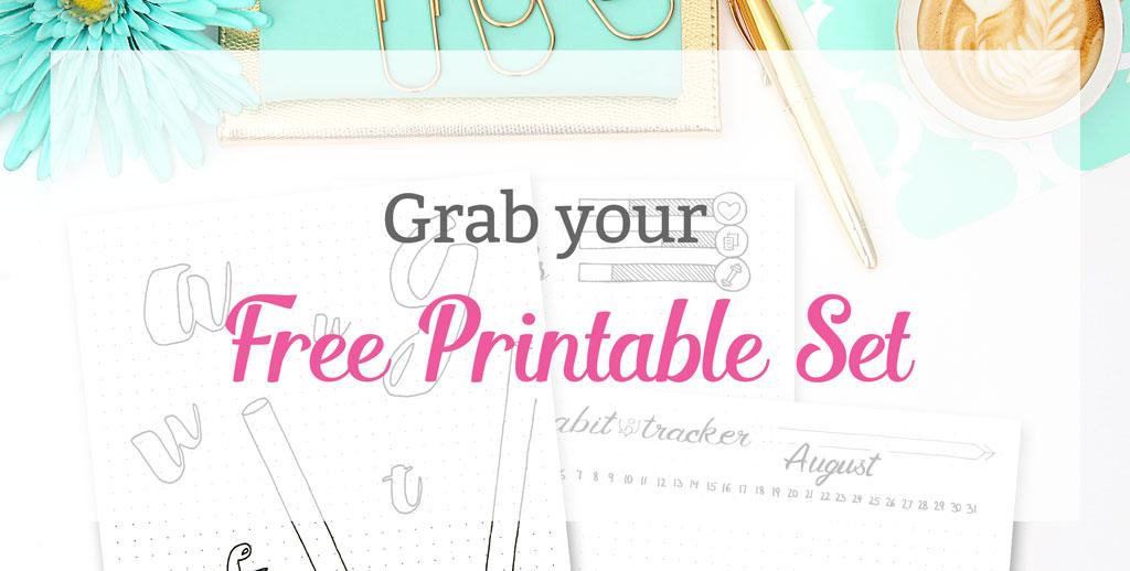 Grab your Free Printable Set Bullet Journal - Wundertastisch