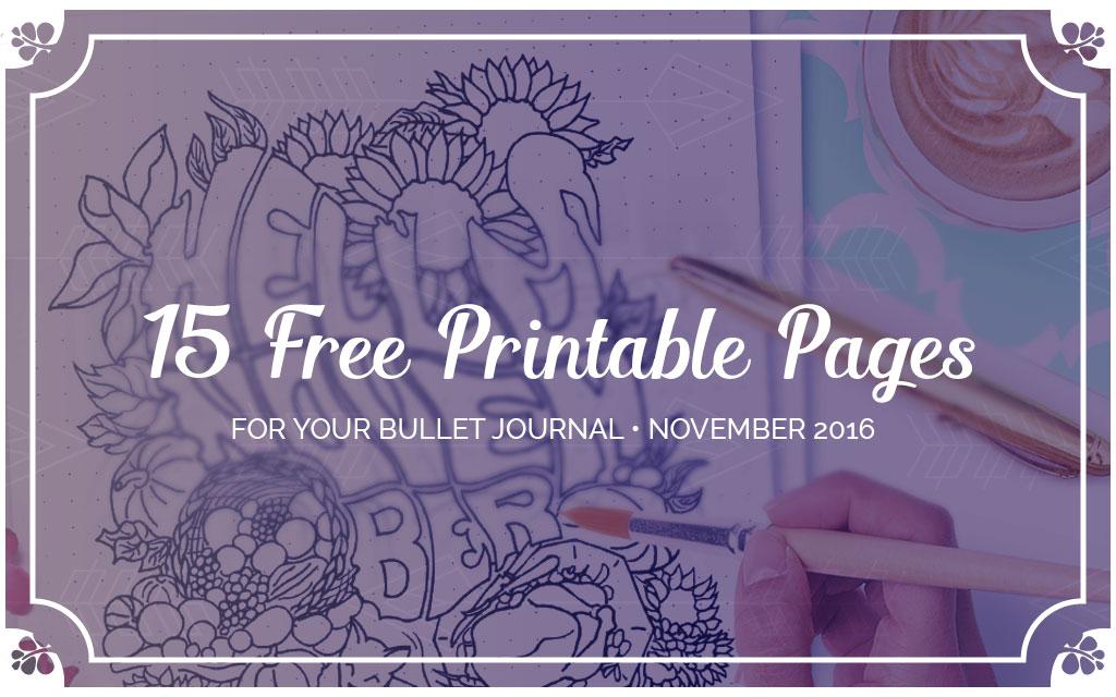 Free Printable November Bullet Journal Setup Wundertastisch