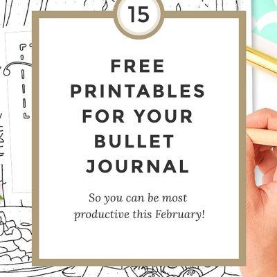 Free Bullet Journal Printables February 2017