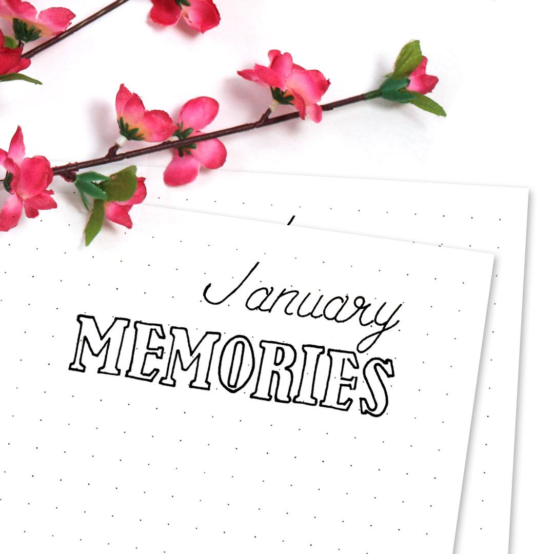 Free Bullet Journal Printable Kit • Memories Doodle Page January 2017 - Wundertastisch Design