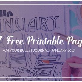 Free Bullet Journal Printable Kit January 2017