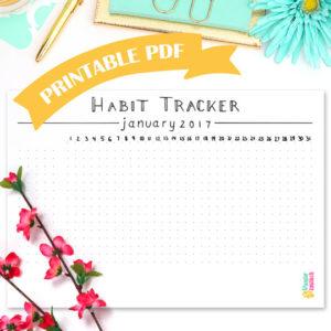 Habit Tracker • Minimalist • January 2017 - Wundertastisch Design