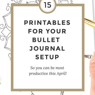 15 Bullet Journal Printables April 2017 + Freebies